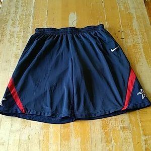 Nike team shorts size large blue red white